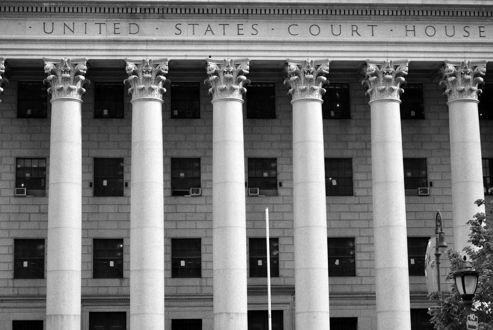 An United States Court House in New York City.-1