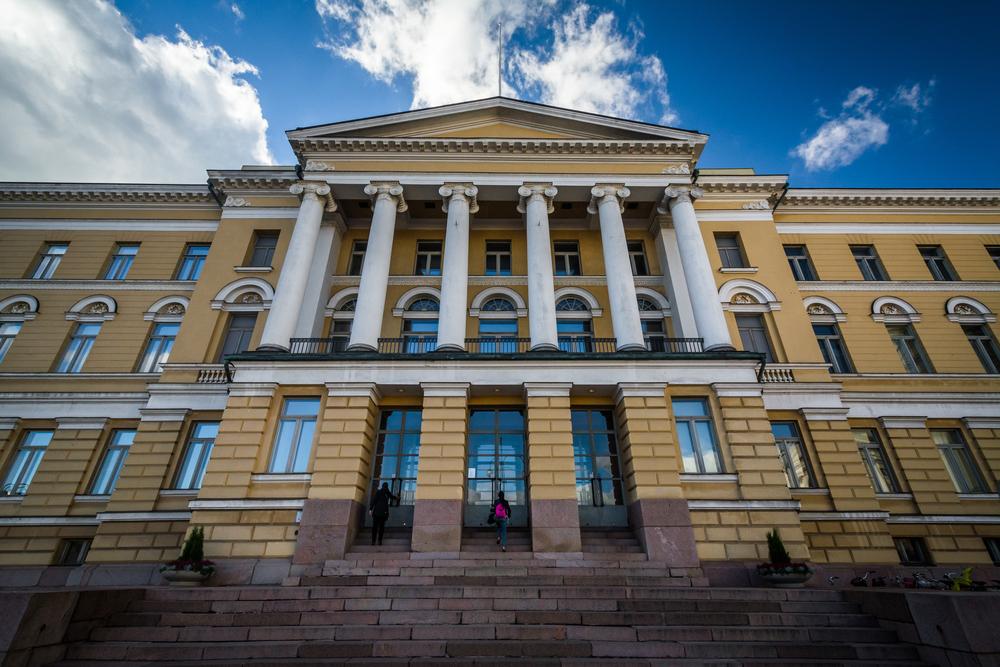 The Main Building of the University of Helsinki, in Helsinki, Finland.